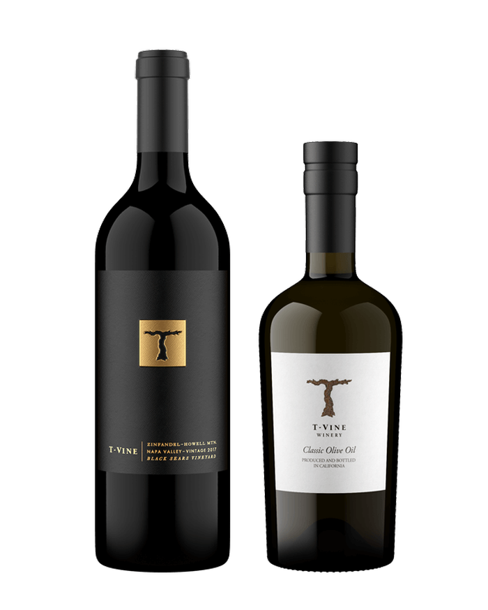 T-Vine Olive Oil and Zinfandel Pair
